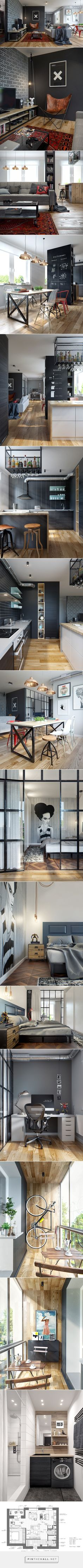 bfdc31681c9 Clever design solutions in cozy 69 square meters apartment - created via  http