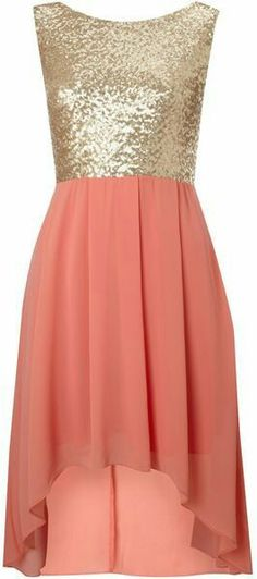 Tfnc Sequin Sarah High Low Dress in Pink (coral) - Lyst Look Fashion, Fashion Beauty, Womens Fashion, Pretty Dresses, Beautiful Dresses, Zeina, Boutique Fashion, Dress Me Up, Dress Man