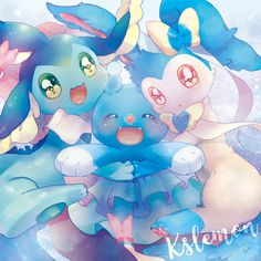 Popplio, Brionne, and Primisa <3
