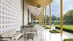 ambassador-residence-usa2 Best Hotels In Panama, Panama Hotel, Boston Architectural College, Glass Facades, Outdoor Furniture Sets, Outdoor Decor, Museum Of Modern Art, Ground Floor, Patio