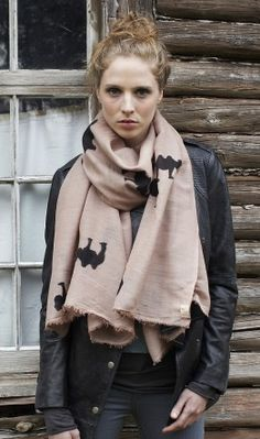 I spy camels on that scarf!