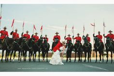 RCMP Musical Ride wedding photo goes viral for Mount Pearl couple (CBC News 24 August Wedding Bride, Dream Wedding, Wedding Day, 24. August, Newfoundland And Labrador, Flower Invitation, Wedding Pictures, Wedding Details, Wedding Planner