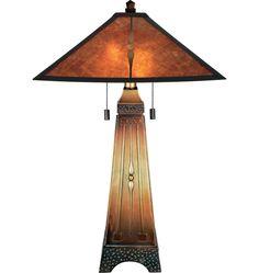 Rejuvenation | Amber Mica Table Lamp