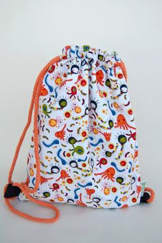 Small backpack for kids OCTOPUS // by LaIndustriaDeMayka, $15.70