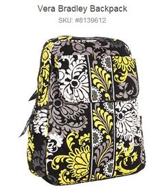 Vera Bradley Backpack, great for day trips!