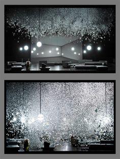 Klaus Grünberg, set and light design for AIDA, Opernhaus Zürich, 2014 Theatre Design, Stage Design, Light And Shadow, Light Up, Bühnen Design, Scenic Design, Exhibition Space, Stage Lighting, Installation Art
