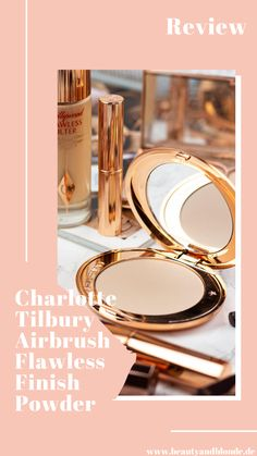 Review des beliebten Airbrush Flawless Finish Powders von Charlotte Tilbury #review #blog #beauty #makeup #kosmetik #schminke #highend #charlottetilbury #puder #beautyandblonde Charlotte Tilbury, Airbrush, High End Makeup, All Things Beauty, Tricks, German, Hair Beauty, Make Up, Wellness