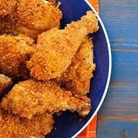 Cornflake-Crunch Chicken  -- I think I would try this gluten free and with boneless chicken