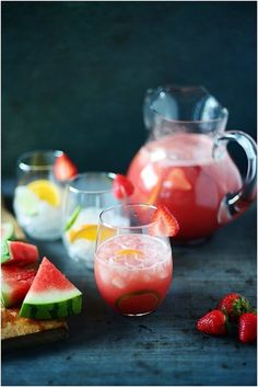 Hold On to Summer With This Watermelon Strawberry Sangria