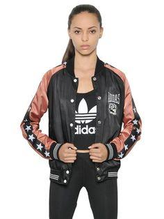 adidas Techno Satin Bomber Jacket on shopstyle.co.uk