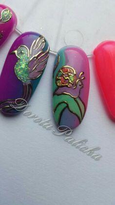 Transfer foil nail art with Nail Perfect foil design gel by Dorota Palicka international nail artist www.nailperfect.net