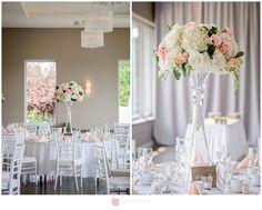 Centerpieces Flower vase blush Mariage / Wedding  – Le Belvedere de Wakefield Rustic decorations  by Genevieve Albert Photographe www.genevievealbert.com