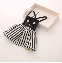 Casual baby girl clothing cat dress