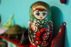 Russian nesting dolls. Matroyshka. Babushka love!