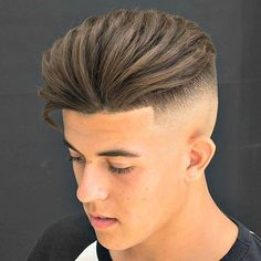 High Skin Fade with Shape Up and Brushed Back Hair
