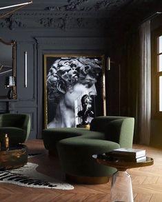 25 Popular Classic Living Room Design 2019 - Home Design Living Room Designs, Living Room Decor, Dining Room, Living Spaces, Art Spaces, Small Living, Dining Chair, Green Interior Design, Classic Interior