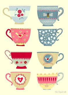 Tea cups by Nick Squirrel