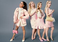 Scream Queens co-stars Ariana Grande, Abigail Breslin, Billie Lourd, and Emma Roberts, photographed in New York City. Photograph by Emma Summerton.