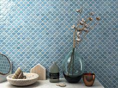 Glass mosaic SOUL BR by VIDREPUR Blue Mosaic, Blue Tiles, Mosaic Glass, Mosaic Tiles, Glass Tiles, Decorative Tile, Wall Decor, Turquoise, Flooring