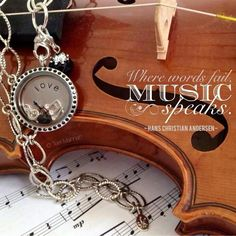 Music Themed Locket! Tell your unique story with a locket and Wear What You LOVE!! Contact me for more details and lets design one together! www.southhilldesigns.com/evatia Artist #592496