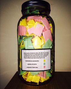 Perfect Boyfriend Puts 365 Love Notes In A Jar For His Girlfriend To Read All Year | Bored Panda