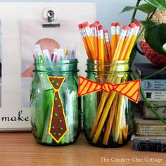 Father's Day Mason Jar Kid Craft - Father's Day Gift Ideas - Mason Jar Crafts for Father's Day - Mason Jar Gifts for Father's Day - Kid's Crafts for Father's Day @Mason Jar Crafts Love blog