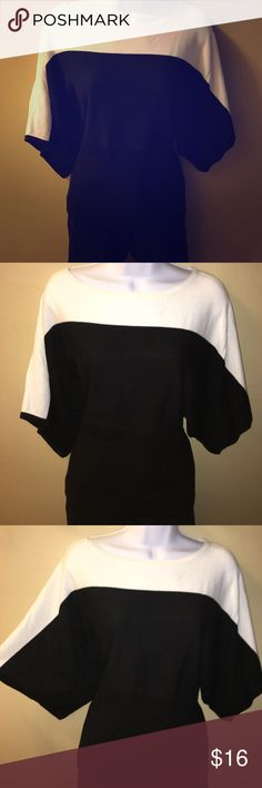 Black & white top Beautiful and soft black and white top so m Style & Co Tops Blouses