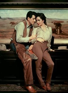Rock Hudson and Elizabeth Taylor in Giant