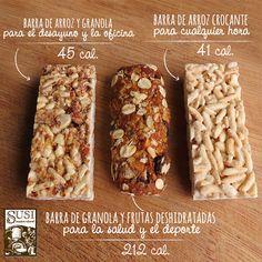 ¿Cuál de nuestras barras de cereal #Susi te gusta más, de arroz y granola, de granola y frutas deshidratadas o de arroz crocante?