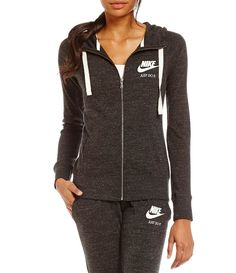 quality design 07a2e aef90 Black Sail Nike Gym Vintage Full-Zip Women´s Hoodie