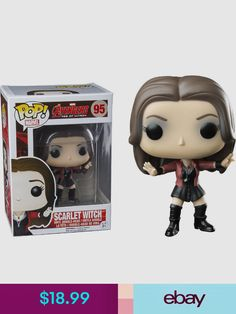The Avengers - Avengers Age of Ultron - Scarlet Witch Pop! Vinyl Figure The mysterious twins known as Scarlet Witch and Quicksilver have aligned themselves with the evil powerhouse, Ultron, to take over the world. Funko Pop Marvel, Ms Marvel, Funko Pop Dolls, Funko Pop Figures, Pop Vinyl Figures, Age Of Ultron, Scarlet Witch, Best Funko Pop, Funko Pop Anime