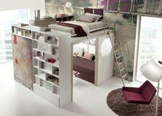 Download the catalogue and request prices of teenage bedroom Tiramolla 173, design Marelli e Molteni, Tiramolla collection to manufacturer Tumidei