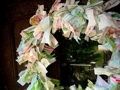 Very easy DIY fabric rag wreath