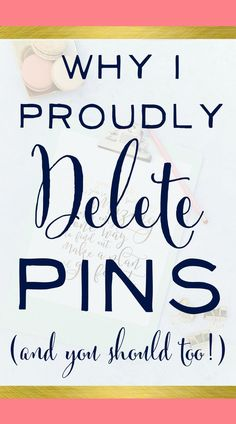 Interesting Pinterest Tips here! Love the tutorial video and hearing why she deletes pins. Do you delete them? Click to weigh in on the debate!   brilliantbusinessmoms.com