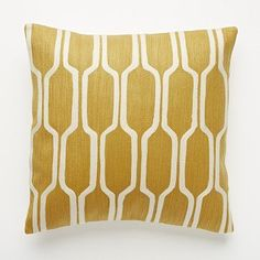 Beautiful! But tooooo expensive. Going to have to make my own. West Elm's Honeycomb Crewel Pillow Cover Golden Gate