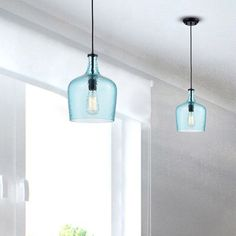 Coastal Kitchen Lighting, Coastal Light Fixtures, Kitchen Ceiling Lights, Light Fixtures Bathroom Vanity, Kitchen Lighting Fixtures, Pendant Lights, Blue Pendant Light, Light Blue Kitchens