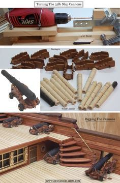 Model Ship Cannons