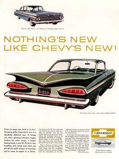 Chevrolet Impala 1959 Chevys New Green - www.MadMenArt.com | Vintage Cars…