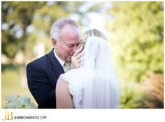 Kristen and Adam's Country Chic Wedding at The Reserve at Bluebird Hill  Father Daughter First Look  #firstlook #Fatherofthebride #Bride