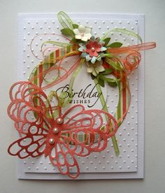 butterfly and ribbons