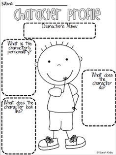 Character Profile--from primary link but think it would work well for 5th grade.
