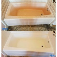 It\'s amazing what a tub resurface and new caulking can do for a ...