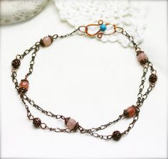 Medieval lady anklet  moonstone by sophinegiam on Etsy, $12.00