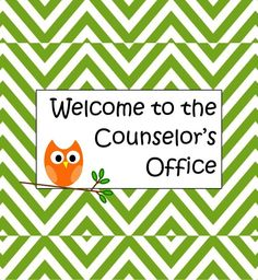 Counselor Door Sign