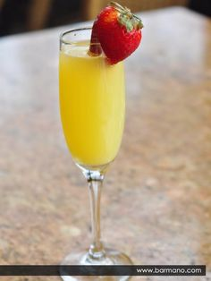 Start Sunday Funday with a Pinnacle mimosa. 1 part Pinnacle Orange Whipped 1 part Champagne 1 part Orange Juice Mix in a champagne flute (or solo cup) and garnish with a strawberry. Fizz Drinks, Champagne Drinks, Cocktail Drinks, Yummy Drinks, Cocktail Recipes, Alcoholic Drinks, Beverages, Fun Cocktails, Drink Recipes