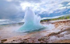 Haukadalur Geothermal Field – Iceland - Geyser starts