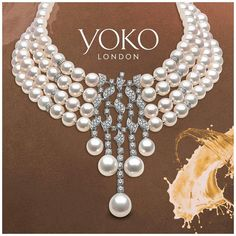 @jewelleryarabia2017 - Where we will be showcasing some our our finest pearl pieces! @yokolondon