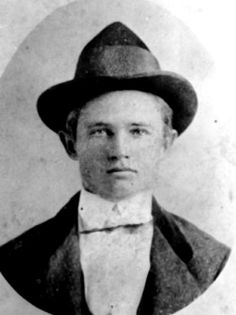 Portrait of Rube Burrow. (Contributed by the Alabama Department of Archives and History)