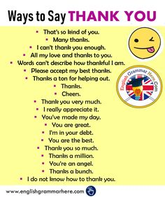 Different Ways to Say THANK YOU in English - English Grammar Here