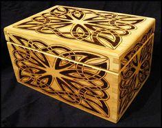 Celtic Odyssey Woodburned Knotwork Box